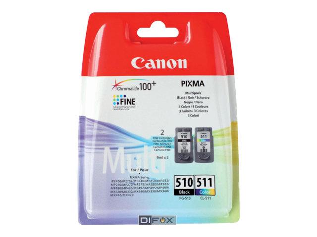 CANON 2970B010 CARTUTX INY. TINTA NEGRE/COLOR PK2