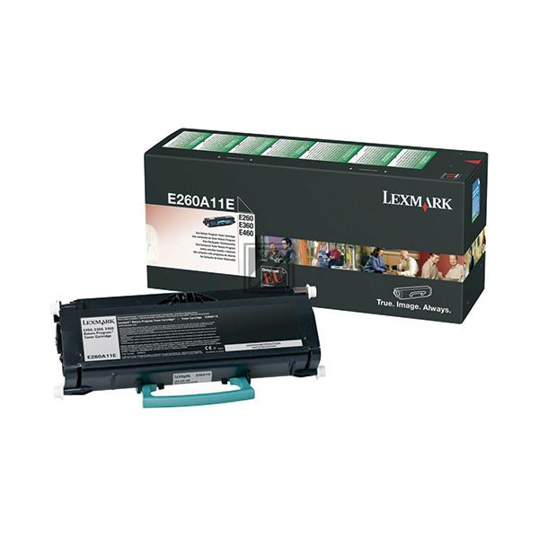Toner láser LEXMARK E260A11E Negro
