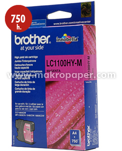 Cartucho inkjet BROTHER LC1100HYM Magenta