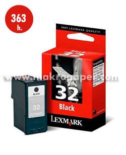 Cartucho inkjet LEXMARK 32 Negro