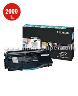 Toner láser LEXMARK 12016SE Negro