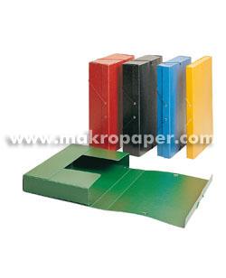 Carpeta proyecto cartón Lomo 3cm Rojo