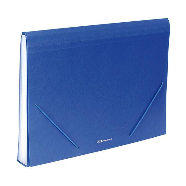 Carpeta clasificadora Plus Office A4 Azul 12 sep.