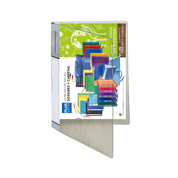Carpeta con miniclip Plus Office