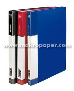 Carpeta Plus Office rígida A4 80 fundas Azul