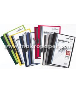 Dossier Durable con pinza Duraclip 30 hojas Blanco