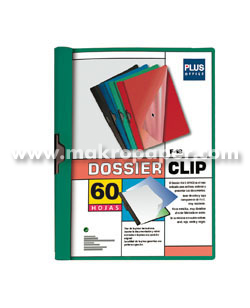 Dossier Plus Office Plástico F-18 60 hojas Verde