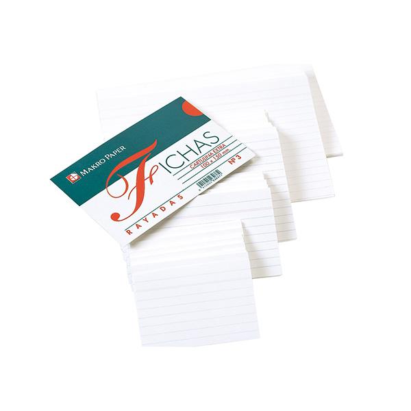 Fichas rayadas Makro Paper 65x95 (100h.)