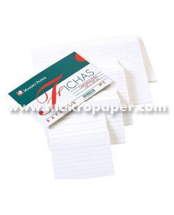 Fichas rayadas Makro Paper 75x125 (100h.)