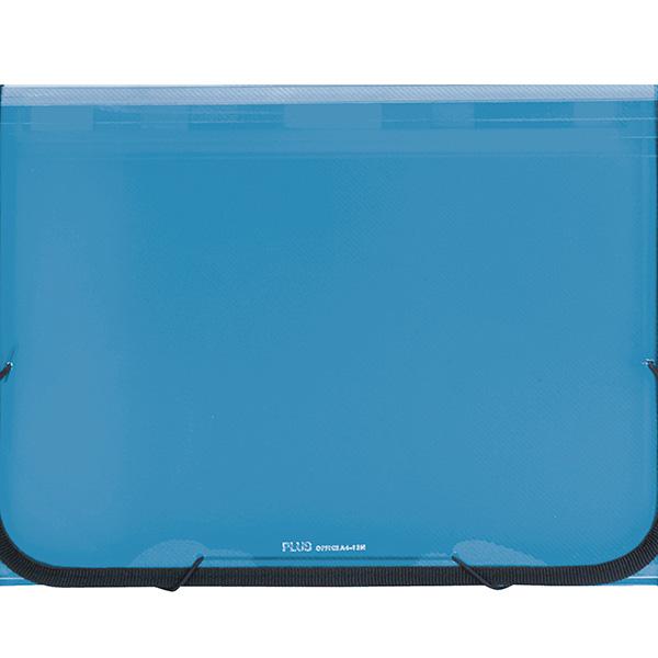 Carpeta clasificadora A4 translúcido 12 sep. Azul