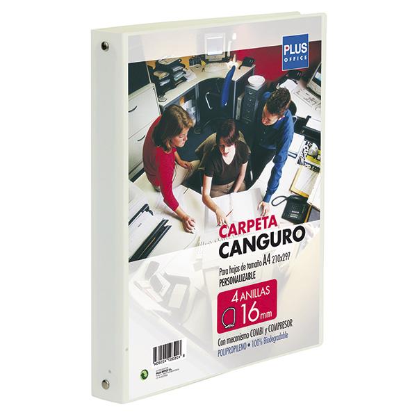 Carpeta Canguro Plus Office Cubierta flexible 4 anillas 16mm