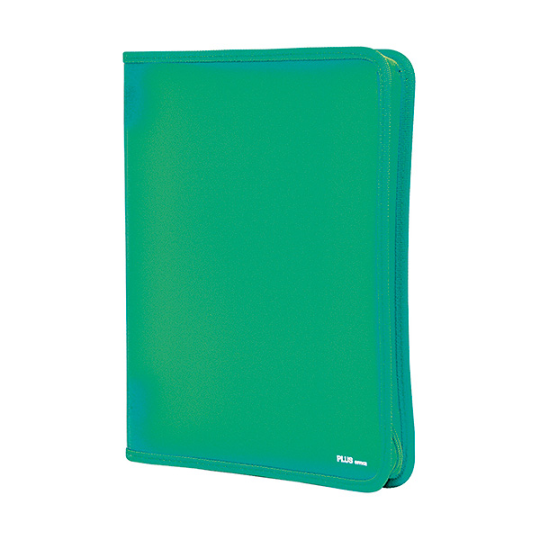 Carpeta con cremallera Plus Office A4 Verde