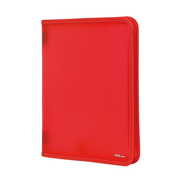 Carpeta con cremallera Plus Office A4 Rojo