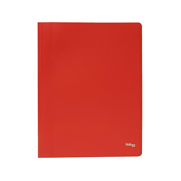 Carpeta Flexible con 10 fundas Plus Office A4 rojo