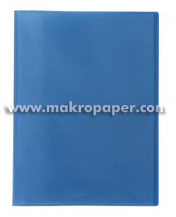 Carpeta 20 fundas Plus Office A4 traslúcida azul