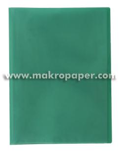 Carpeta 40 fundas Plus Office A4 traslúcida verde