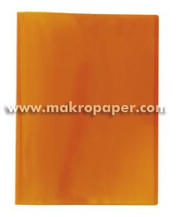 Carpeta 40 fundas Plus Office A4 traslúcida naranja