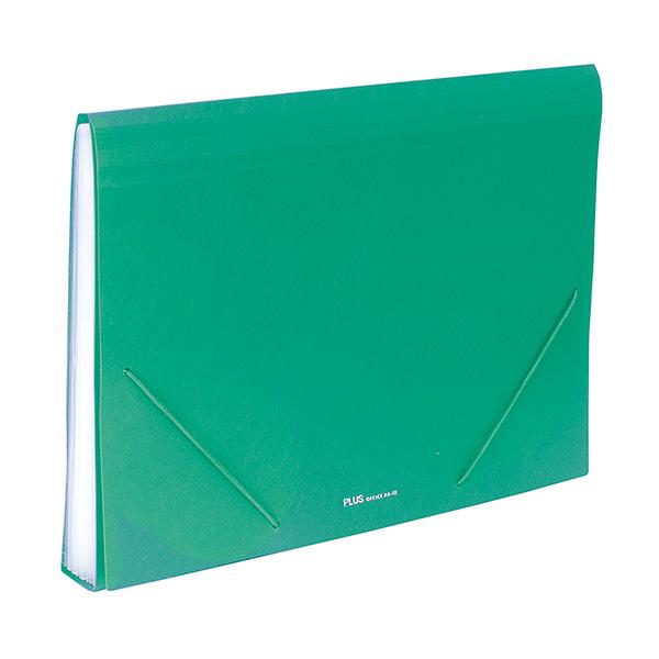 Carpeta clasificadora Plus Office Verde 12 sep.