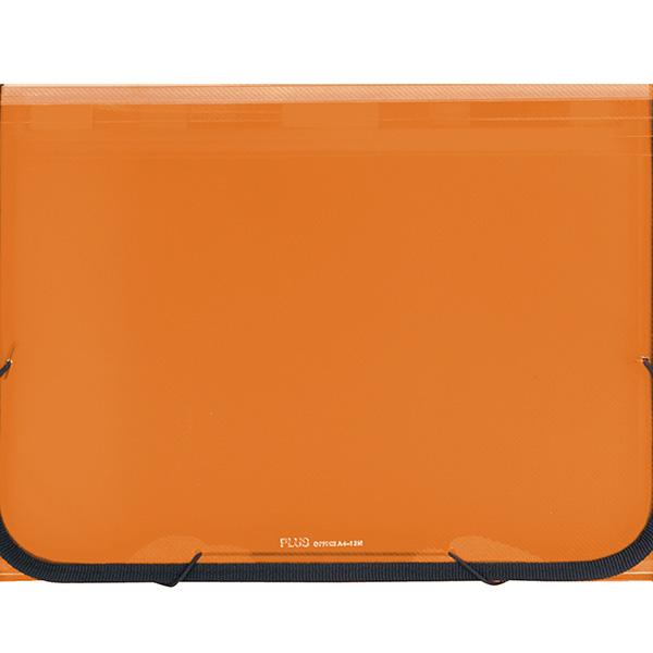 Carpeta clasificadora A4 traslúcido 12sep. Naranja