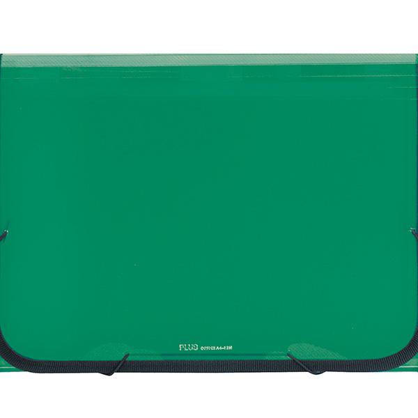 Carpeta clasificadora A4 traslúcido 12sep Verde