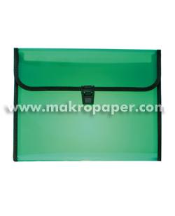 Carpeta clasificadora con broche 12sep. verde