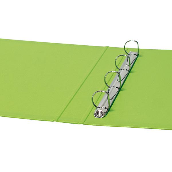 Carpeta 2a/25mm cartón forrado de PP verde claro