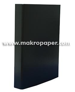 Carpeta 2a/25mm cartón forrado en PP negro