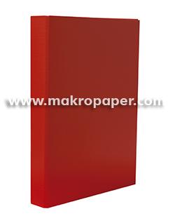 Carpeta 2a/25mm cartón forrado en PP rojo