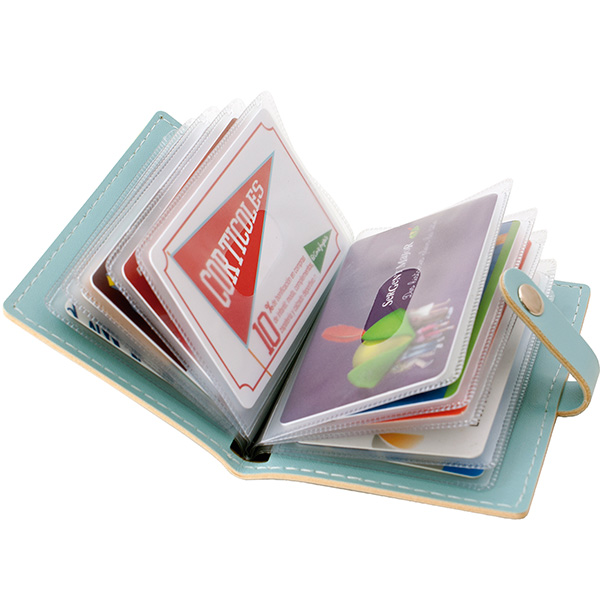 Cartera portatarjetas Plus Office 20 tarjetas