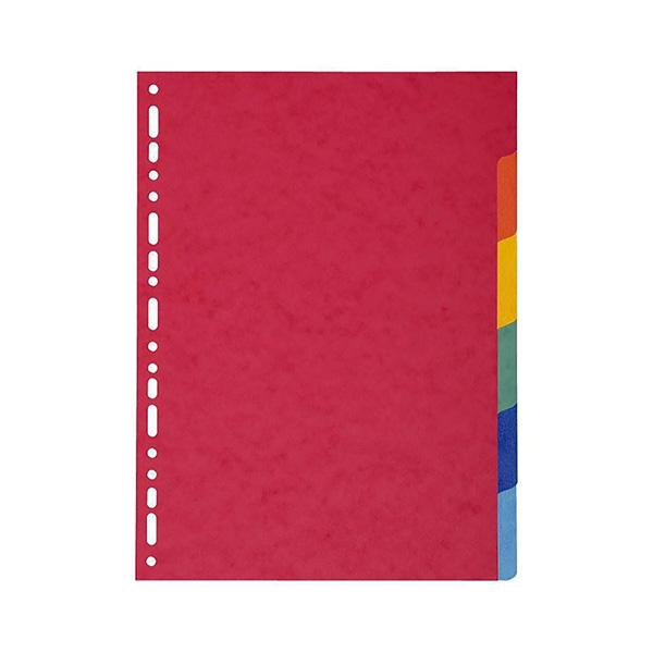 Separadores Exacompta 225gr 6 colores