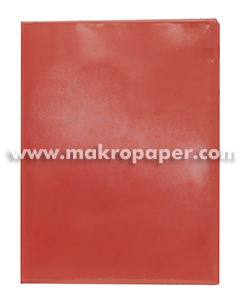 Carpeta 40 fundas Plus Office A4  traslúcida rojo