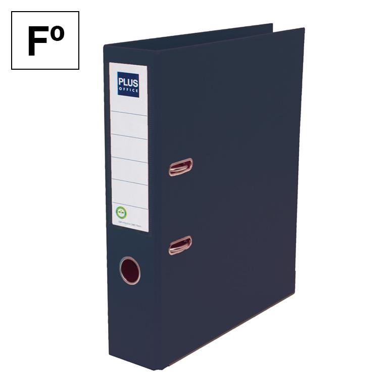 Archivador Plus Office E3R Folio lomo 75mm Negro