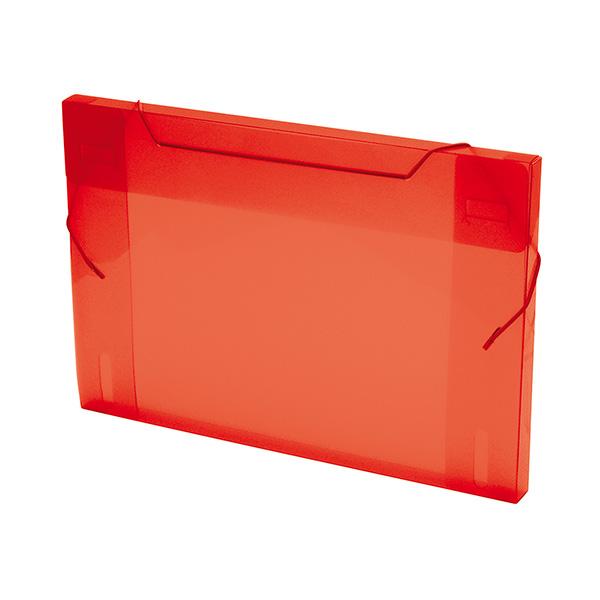 Carpeta proyectos pp 3cm translucida roja
