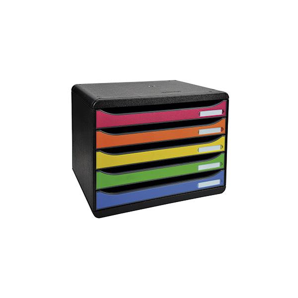 Modulo 5 cajones Big Box Plus apaisado negro/color