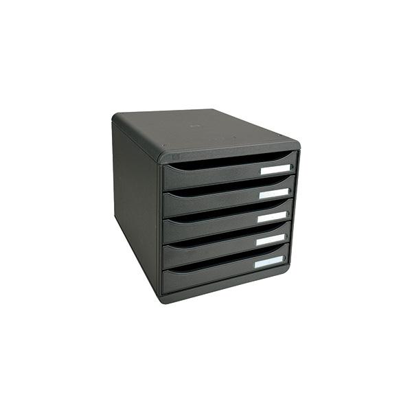 Modulo exacompta 5 cajones Big Box vertical negro/negro