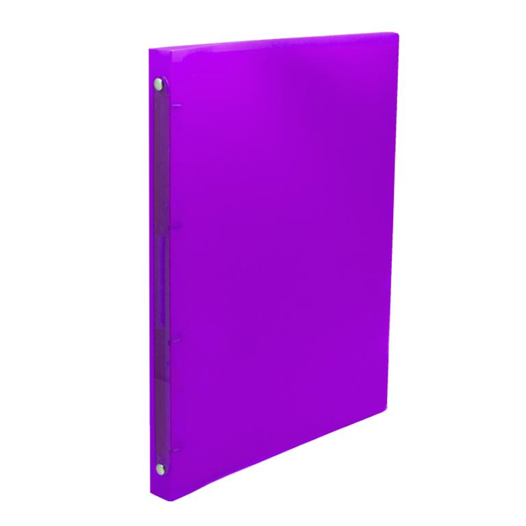 Carpeta din a-4 4 anillas 16mm violeta transp.
