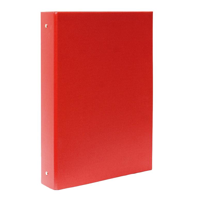 Carpeta cartón Plus folio 4 anillas 40mm roja