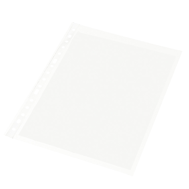 Caja 100 fundas multitaladro DIN A4 granulada