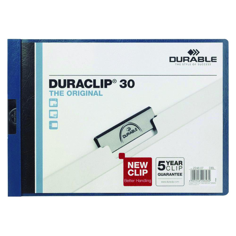 Dossier Duraclip A4 apaisado 30h azul oscuro
