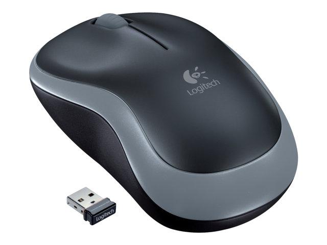 Ratón wireless Logitech M185 gris/negro