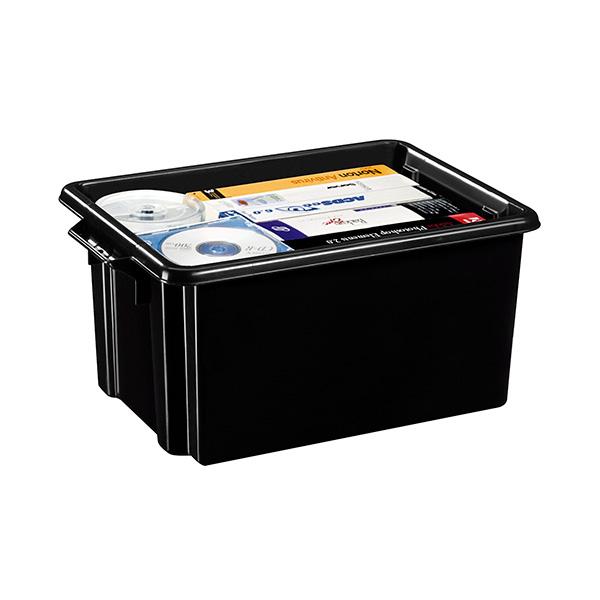 Caja de almacenaje multiusos negra 32 litros