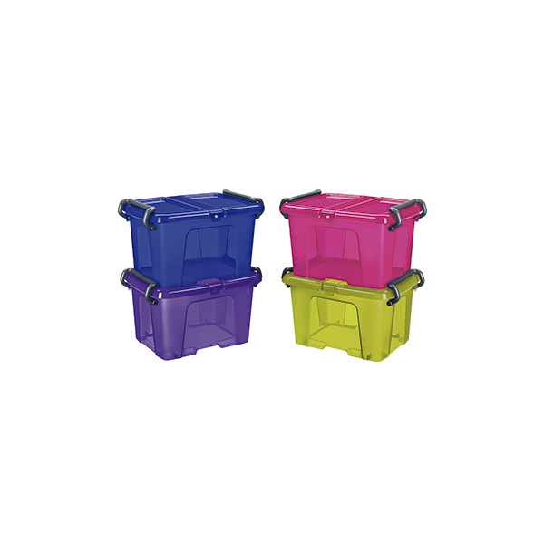 Caja de almacenaje multiusos color azul 6 litros