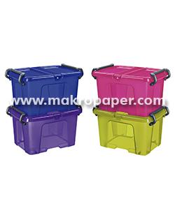 Caja de almacenaje multiusos color malva 6 litros