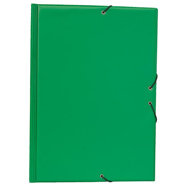Carpeta PVC Folio gomas y solapas verde claro