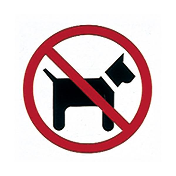 Etiquetas de señalización Apli Prohibido perros