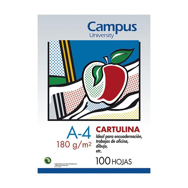 Cartulina Campus University 180 gr. A4 Blanco (100u)