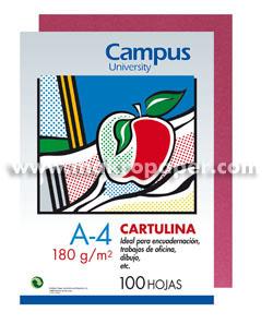 Cartulina Campus University 180gr A4 Rosa (100u)