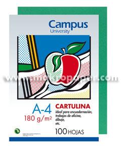 Cartulina Campus 180gr A4 Verde Pino (100u)