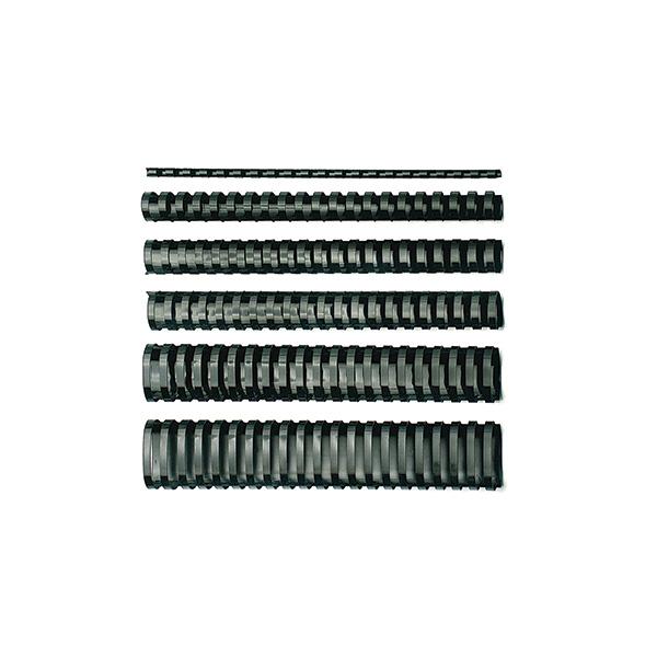 Canutillos de plástico GBC 6mm 25h (100u)