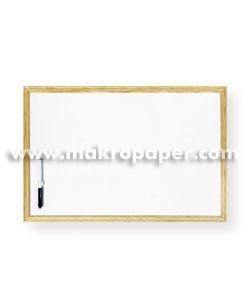 Pizarra blanca Makro marco de madera 60x40